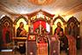 Иконостас крестильни храма во имя Казанской иконы Божией Матери в пос. Мещерском  2018г.