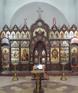 Иконостас в  храме в честь св. Александра Невского в Кожухово(г. Москва ) 2012г.