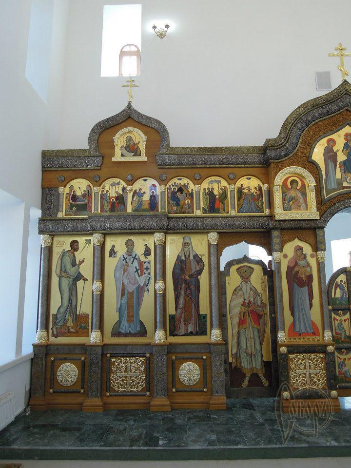 Иконостас в  храме в честь Преображения Господня в г. Игрим(ХМАО) 2012г