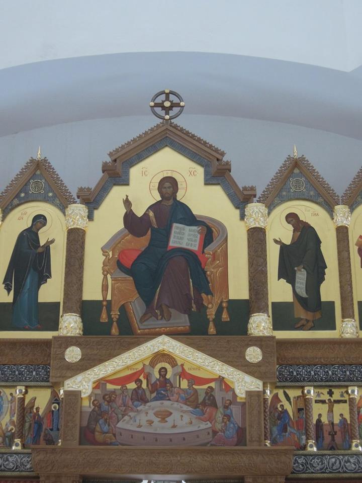 Верхний иконостас  Преображенского храма в Усть-Курдюме 2013г.